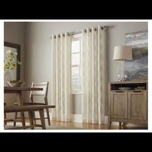 ALLEN + ROTH 50x84 Breesport Grommet Curtain Set